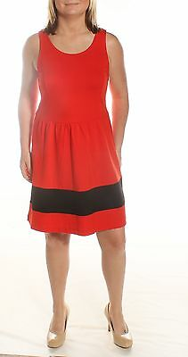 $79 New 0187 KENSIE Solid RED Casual Dress M BAB