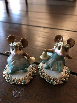 "Wee Forest Folk ""Mice With Bells"" Set Of 2"
