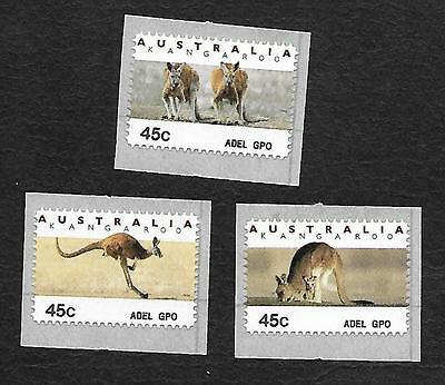 3 X ''peel & Stick'' Muh ''counter Printed''stamps- Bottom Of Stamps ''adel Gpo'
