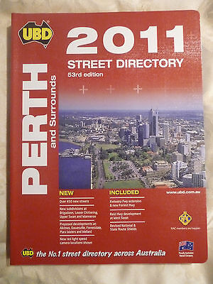 UBD 2011 Street Directory 53rd Edition PERTH AND SURROUNDS NEW