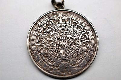 Mayan Calender Pendant - Sterling Silver