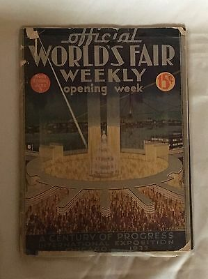 Official World's Fair Weekly Chicago Century of Progress 1933 Opening Week June