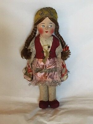 """Rare 1933 Chicago Worlds Fair Collectible Vintage DOLL 10"""" Columbian Exposition"""
