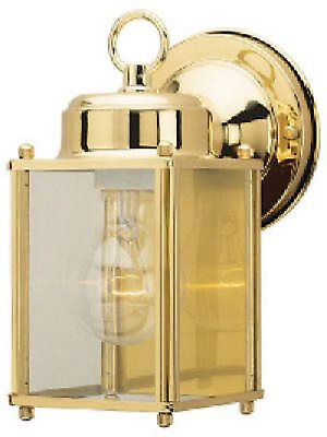 One Pair of Westinghouse Model 66936 Small Brass Single Bulb Outdoor Wall Lamps