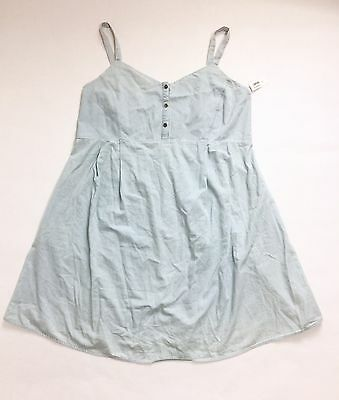 New Old Navy Maternity Light Blue Chambray Sleevless Button Front Dress Size XL