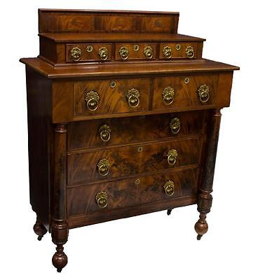 AMERICAN EMPIRE STYLE MAHOGANY DRESSER CHEST 19TH Century ( 1800s )