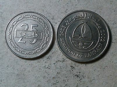 Bahrain lot of  50 and 25  fils coins . ship