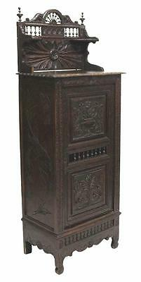 ANTIQUE FRENCH BRETON SINGLE DOOR CARVED CABINET 19th Century ( 1800s )