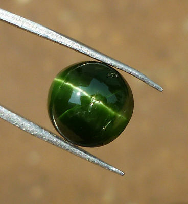 5.85 Ct Natural Kornerupine cats eye green round cabochon loose gemstones