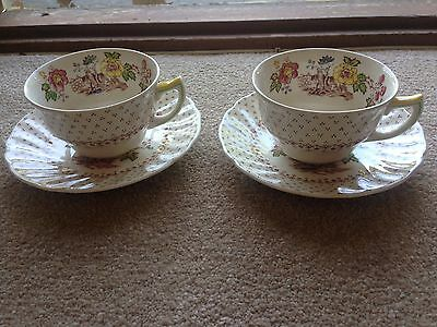 2x Royal Doulton Grantham Cup And Saucer D5477