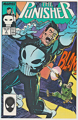 Punisher #4 VF/NM 1987 Marvel Comics 1st appearance Micro Chip key issue Vol 2