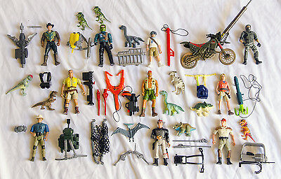 Lot of Vintage Jurassic Park Figures + Baby Dinos and Accessories