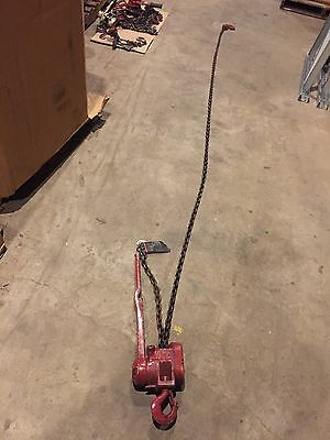 CM 3000 lb CHAIN HOIST Lift Lever Puller COME ALONG 1-1/2 Ton 12' Lift