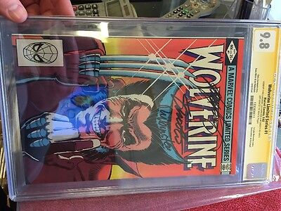 WOLVERINE LIMITED #1 CGC 9.8 SS Signed x3, Claremont, Shooter, Rubinstein