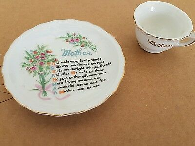 Antique mother cup and saucer