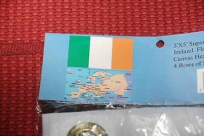 IRELAND  FLAG /3x5 ft,/grommets,4 rows sewn per side