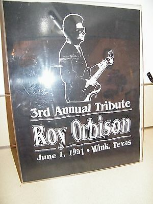 VINTAGE ROY ORBISON SHIRT 1991 3rd ANNUAL TRIBUTE  WINK, TEXAS  IN DISPLAY CASE