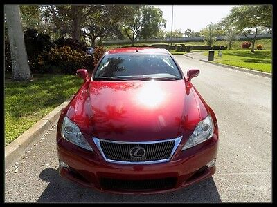 2010 Lexus IS C Convertible 2-Door 2010 IS250 IS250 CONVERTIBLE COOLED SEATS NAVIGATION REAR VIEW CAM XENON FL