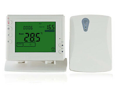 Large LCD WiFi Smart Thermostat Wireless Programmable Heating System App Control