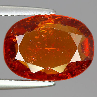 4.325 Cts  Amazing Rare Unique Beautiful Natural Superb Hessonite Garnet Nr!!!!