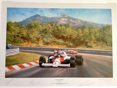 "Alan Fearnley Signed Limited Edition Print  500/850 - ""world Champion"" 1984"