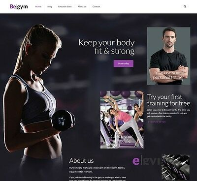 Gym & Training Equipment Store-Established Affiliate Website Business