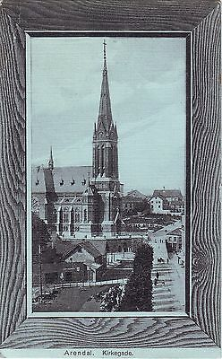 Norway Norge Arendal - Kirkegade 1931 Germany Chemnitz Cover on sepia postcard