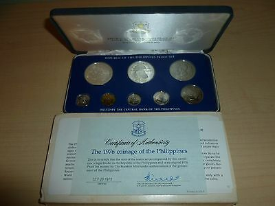 1976 Republic of the Philippines Proof Silver Coin Set In Original Case w/Papers