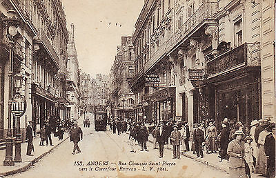 France Angers - Rue Chaussee Saint-Pierre Tabac Omega Watches Shop 1918 postcard