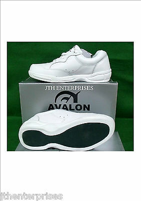 New Men's White Leather Lawn Bowls Shoes Bowls Australia approved  size 10