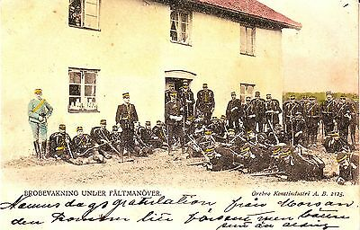 Sweden - Military undivided back unused postcard