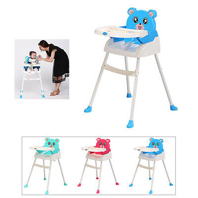 4 In 1 Baby Foldable Highchair Baby Feeding Height Adjustable High Chair