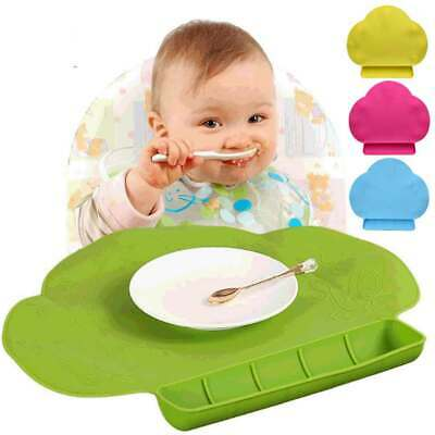Baby Kids Silicone Cloud Messy Placemat Antislip Eating Dining Table Mat Pad
