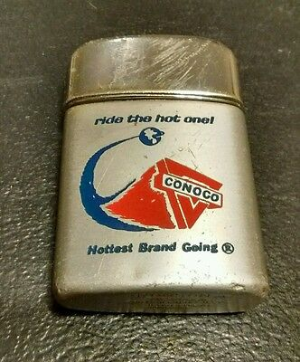 Ronson Typhoon Lighter Conoco Hottest Brand Going