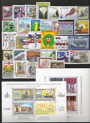Austria - 2000 YEARSET complete MNH
