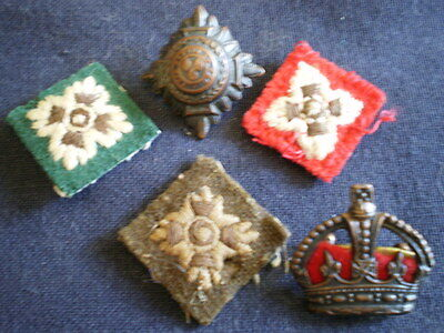 Original Australian WW1/2 officer's uniform rank insignia lot AIF