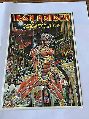 7 Iron Maiden Postcards Aces High Japan Somewhere In Time Etc