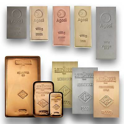 Copper ingot - Brass ingot - Aluminium ingots - Theme bars - Select