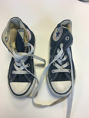 Kids Unisex CONVERSE ALL STAR HI TOP TRAINERS SIZE 10.5 UK