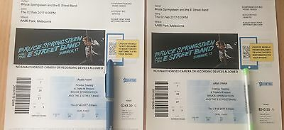 Bruce Springsteen Tickets AAMI Melbourne 2017  2 Tickets Price Is For Both!!!!!!