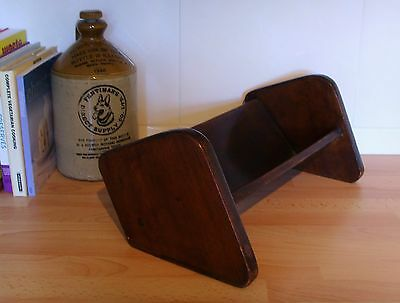 Antique Wooden Book Shelf -Free Standing -Recipe Books Night Table Stand Vintage