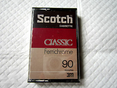 CASSETTE TAPE BLANK SEALED - 1x (one) SCOTCH CLASSIC FERRICHROME (type III) 1975