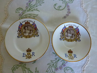 Vintage Coronation  Queen Elizabeth June 2Nd 1953  Saucer And Plate