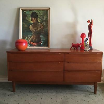 RETRO SIDEBOARD MID CENTURY 60s 70s DANISH PARKER ERA BUFFET DRAWERS by RELIANCE