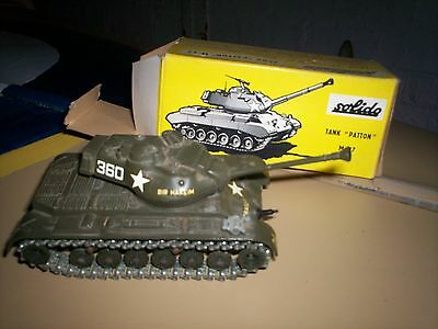 Vintage Solido M-47 patton Tank - 1/50 scale diecast US ARMY