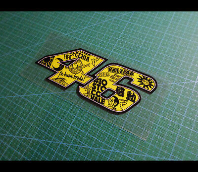 46 Scrawl Rossi Fuel tank Motorcycle Vinyl Decal Reflective Sticker #022
