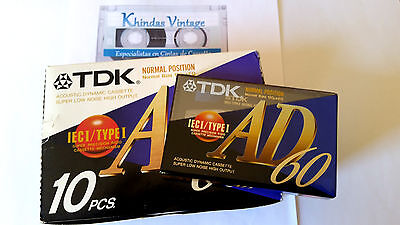 CASSETTE TAPE BLANK SEALED - 1x (one) TDK AD 60 [1995] Normal Position