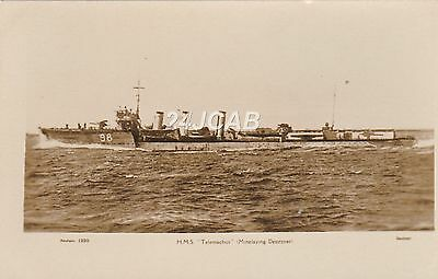 "Royal Navy Real Photo. HMS ""Telemachus"" R- Class Destroyer. c 1917"