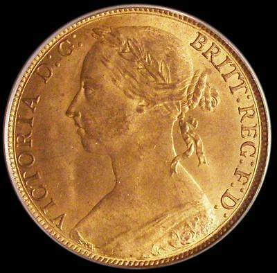 1887 Victoria Penny CGS Slabbed coin