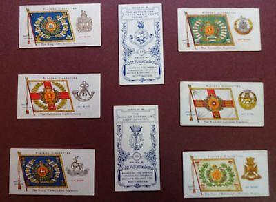Regimental Colours & Cap Badges,blue Back,(Regulars)Iss.1907 By Players Set 50